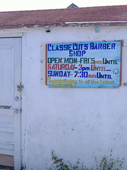 The local barber shop