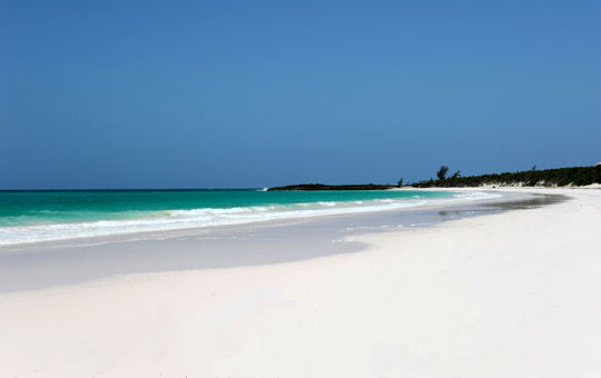White coral sands and warm turquoise sea