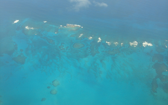 Eleuthera from the air