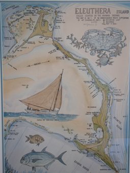 An antique map of Eleuthera