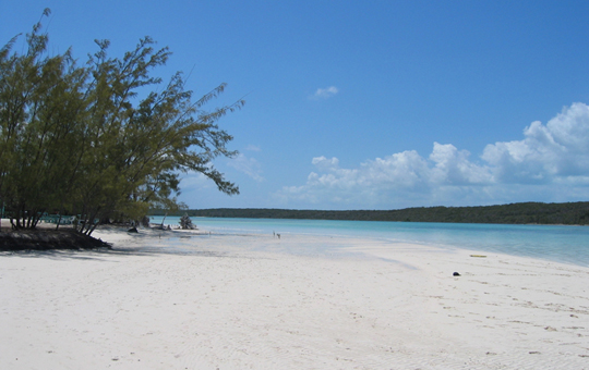Miles of unspoilt beach on Eleuthera