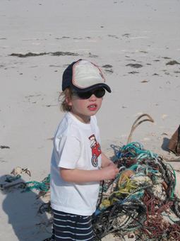 Sunblock and a hat, and plenty of time for flotsam