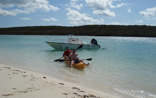 Taking out the kayak is yet another fun activity at Provender