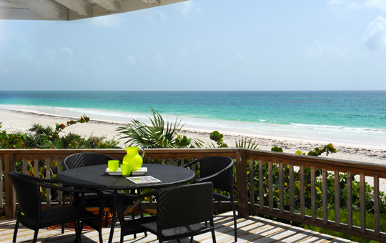 Breakfast overlooking the beach